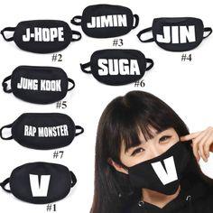I want the Rap Monster one Bts Hoodie, Bts Shirt, Bts Rap Monster, Bts Mask, Estilo Harajuku, Bts Clothing, Mouth Mask Fashion, Bts Inspired Outfits, K Pop