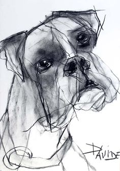 Valerie davide τεχνη art drawings, art и dogs Animal Sketches, Animal Drawings, Art Drawings, Art And Illustration, Cãezinhos Bulldog, Scribble Art, Contour Drawing, Charcoal Art, Boxer Dogs