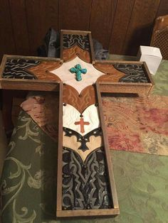 Boot top cross... can make a great memory cross by using boots that belonged to your family