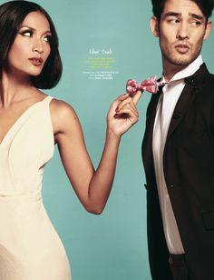 TIE ME UP  (Weddingku March – May 2012), Photographer : Hariono Halim, Stylist : Dhani Agustia, Make Up & Hair Do : Angelina Grace, Model : Advina & Michael