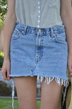 Levis Denim Mini Skirt