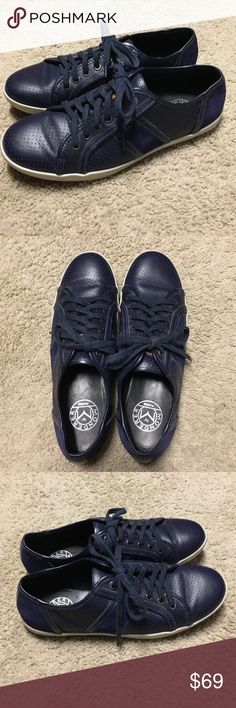 a114c2dff66  DESIGNER  Blue Leather  amp  Suede Sneakers These awesome M by Monderer  sneakers were