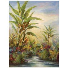 Breezy Palms I Wall Art - BedBathandBeyond.com