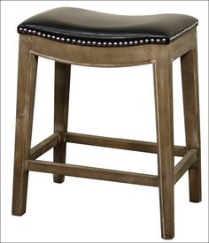 Elmo Bonded Leather Counter Stool Mystique Gray Frame, Black - YourBarStoolStore + Chairs, Tables and Outdoor