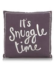 George Home Foil Print Snuggle Slogan Cushion 43x43cm