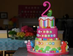 Krista S's Birthday / Yo Gabba Gabba - Photo Gallery at Catch My Party Yo Gabba Gabba, Happy Birthday Cakes, 2nd Birthday Parties, Birthday Ideas, Kid Parties, Elmo Birthday, Birthday Stuff, Dinosaur Birthday, Cupcakes