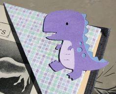 Purple Dinosaur Origami Bookmark
