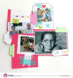 Tarjetas extraíbles para mini álbum. #anitaysumundo #conamor #scrapbook