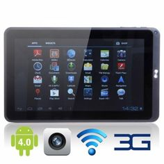 Capacitive Touch Screen Android Tablet PC with Wifi Camera SD White Memoria Ram, Disco Duro, Android 4, Cool Things To Buy, Stuff To Buy, Invite Your Friends, Discount Shopping, Craft Gifts, Tablet Computer