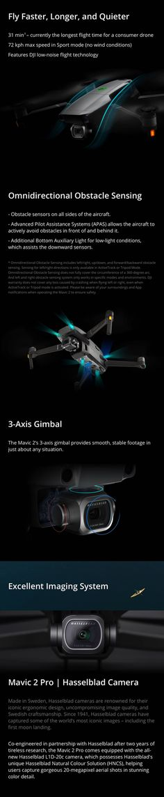 DJI Mavic 2 Pro / Zoom 8KM 1080P FPV w/ 3-Axis Gimbal 4K Camera Omnidirectional Obstacle RC Drone Rc Drone, Drones, Cable Lightning, Still Photography, Mavic, Retro Toys, Power Cable, Shutter Speed, Still Image