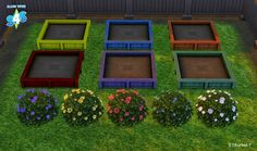 My Sims 4 Blog: Flowering Shrubs & Garden Boxes by Sonia