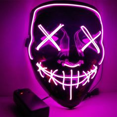 Boys Costume Accessories Popular Brand Dropshipping El Wire Mask Light Up Neon Skull Led Mask For Halloween Party 2018 Theme Cosplay Masks Ship From Us Kids Costumes & Accessories