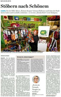 Artikel in der Mitteldeutschen Zeitung vom 20.9.2019 Halle, Baseball Cards, Umbrellas, Original Paintings, Nice Jewelry, Newspaper, Pisces, Handmade, Nice Asses