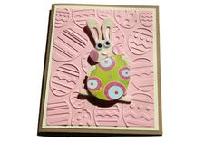 Easter Bunny Card Embossed by RoyalRegards on Etsy, $4.00