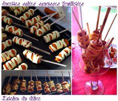 Sucettes salées saucisses feuilletées - apéritif dinatoire -