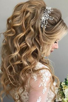 Half Up Half Down Wedding Hairstyles Ideas See More: www .- Half Up Half Down Hochzeitsfrisuren Ideen ❤ Mehr sehen: www.weddingforwar … … – Beauty Tips & Tricks Half Up Half Down Wedding Hairstyles Ideas ❤ See more: www. Wedding Hairstyles Half Up Half Down, Wedding Hair Down, Wedding Hairstyles For Long Hair, Wedding Hair And Makeup, Bridal Hair, Half Updo, Wedding Curls, Wedding Ponytail, Hairstyle Wedding