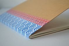 Small Blue & Red Notebook by MoiselleEve on Etsy, $4,00