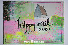 DIY Postcard: Happy Mail coming your way   iHanna.nu