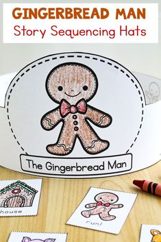 Make teaching sequencing FUN with these printable crowns for The Gingerbread Man! Gingerbread Man Story, Gingerbread Man Activities, Christmas Activities, Winter Crafts For Kids, Winter Kids, Preschool Winter, Preschool Books, Sequencing Activities, Craft Activities