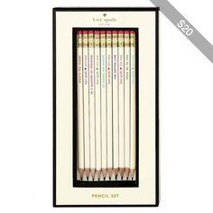 Kate Spade Idiom Pencils