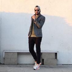 Topman Blazer, Threads For Thought Sweater, Zara Joggers, Nike Sneakers, Rvca Snapback, Ray Ban Sunglasses, Nautica Watch