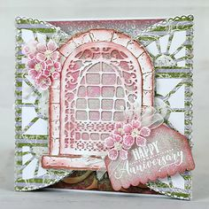 Heartfelt Creations - Celebrating Your Anniversary Handmade Greetings, Greeting Cards Handmade, Red Geraniums, Card Making Tutorials, French Cottage, Pink Paper, Heartfelt Creations, Penny Black, Flower Shape