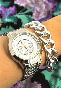 Coach women 39 s boyfriend stainless steel small bracelet for Nice watch for boyfriend