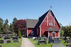 Lappi church, Rauma, Kirkon pääoven puoli