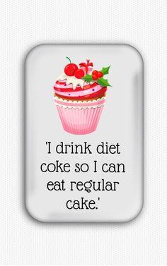 Funny Diet Fridge Magnet Magnet Shape: Rectangular Materials: Metal, Paper, Film, Magnet Size: ***************************** All it Diet Humor, Funny Diet, Harry And The Hendersons, Evil Eye Earrings, Diet Coke, Refrigerator Magnets, Film, Drinks, Eat