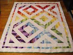 Resultado de imagem para half square triangle quilt
