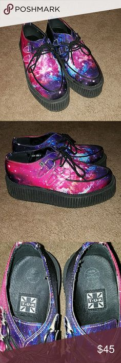 TUK mondo galaxy creepers Gorgeous design, just didn't match most of my wardrobe, so they have only been worn a few times. T.U.K Shoes Platforms