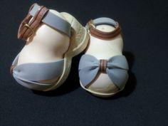Zapatos para fofucha, sandalias con cuña en Goma EVA.