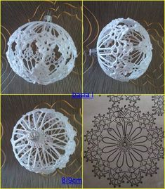 Witam:) To co wczoraj zobaczyłam na swojej tablicy na FB S - SalvabraniKnitting Patterns Christmas Photo only - Salvabranicrochet patterns in thread - Salvabranimedia content and analytics Crochet Christmas Decorations, Crochet Decoration, Crochet Christmas Ornaments, Christmas Crochet Patterns, Crochet Snowflakes, Christmas Baubles, Christmas Crafts, Crochet Ball, Crochet Diy