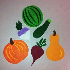 flannel board vegetables, story time ideas, dig into reading