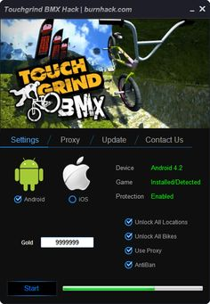 Touchgrind BMX Hack Unlimited Gold Cheat Android Game   http://burnhack.com/touchgrind-bmx-hack-unlimited-gold-cheat-android-game/