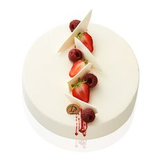 Le Rubis - white chocolate mousse, raspberry jelly, almond sponge cake flavored with raspberry. Fancy Desserts, Fancy Cakes, Cupcakes, Cupcake Cakes, Decoration Patisserie, Modern Cakes, Low Carb Dessert, Pastry Art, Mousse Cake