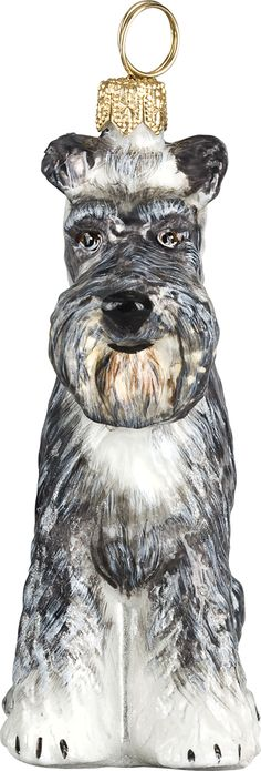 The Pet Set Schnauzer Glass Christmas Ornament - Handcrafted in Europe by Joy to the World Collectibles