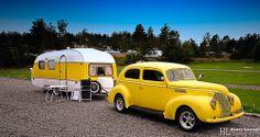 Camper by Henry Leirvoll Vintage Campers Trailers, Retro Campers, Cool Campers, Vintage Caravans, Camper Trailers, Rv Campers, Truck Camper, Tiny Camper, Vintage Rv