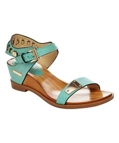 Another great find on #zulily! Mint Angie Wedge Sandal #zulilyfinds