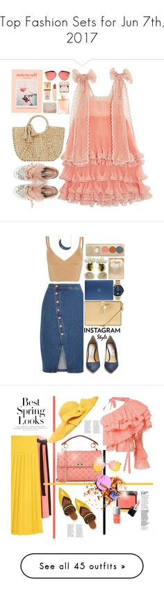 """Top Fashion Sets for Jun 7th, 2017"" by polyvore ❤ liked on Polyvore featuring Miu Miu, Mar y Sol, Chloé, Buji Baja, Urban Outfitters, Christian Dior, Yves Saint Laurent, Stila, Jimmy Choo and Versus"