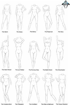 Learn To Draw People - The Female Body - Drawing On Demand Male Figure Drawing, Figure Drawing Reference, Fashion Design Drawings, Fashion Sketches, Drawing Fashion, Fashion Illustrations, Drawing Body Poses, Body Sketches, Sketches Tutorial