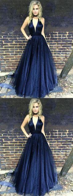Dark Navy Prom Dress,cheap prom dress,sexy prom dress,long prom dress,simple prom dress,custom made prom dresses #demidress #promdress #2018prom