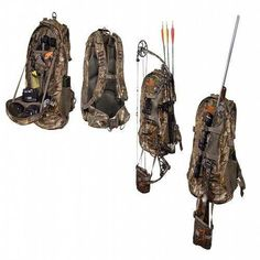 Bow Hunting Backpack Camo Archery Gear Camping Hiking Fishing Realtree Outdoor for sale online Quail Hunting, Deer Hunting Tips, Turkey Hunting, Archery Hunting, Hunting Gear, Hunting Dogs, Hunting Outfits, Hunting Stuff, Hunting Equipment