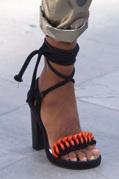 Isabel Marant, Spring 2016 - The Fiercest Runway Shoes of Spring 2016 - Photos Look Fashion, Paris Fashion, Fashion Shoes, Shoe Boots, Shoes Heels, Pumps, Shoe Bag, Crazy Shoes, Me Too Shoes