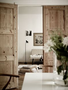 Love these rustic timber doors. A stunning visual impact.