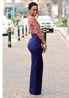 African ankara women style