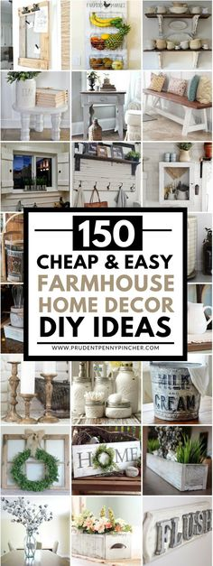 Check it out 150 Cheap and Easy DIY Farmhouse Style Home Decor Ideas  The post  150 Cheap and Easy DIY Farmhouse Style Home Decor Ideas…  appeared first on  Biss Designs .
