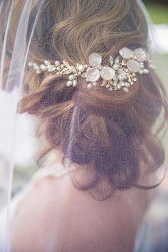 Wedding Hair Vine Set with Earrings Bridal Headpiece Set
