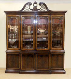 Vintage Bernhardt Asian Campaign Server Buffet Cabinet In Castors Furniture And Other Decor