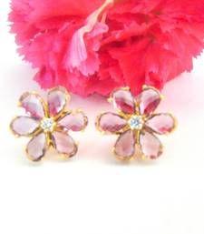 Buy Purple Flower Studs stud online